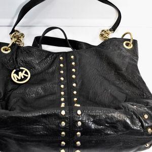 Michael Kors Uptown Astor Shoulder Hobo Bag Black